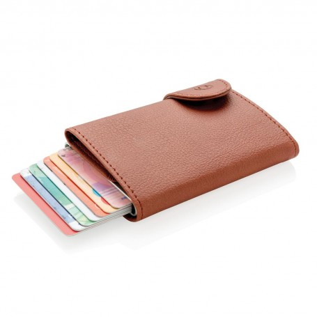 Portofel si port card XD Collection RFID Maro